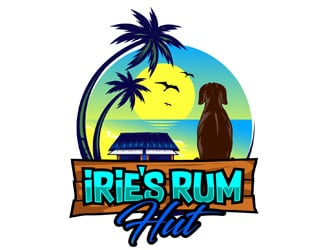 Iries Rum Hut logo design
