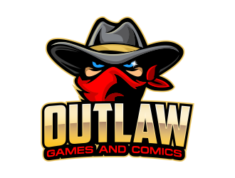 Outlaw Games and Comics logo design by Cekot_Art