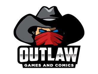 Outlaw Games and Comics logo design by cybil