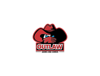 Outlaw Games and Comics logo design by oke2angconcept