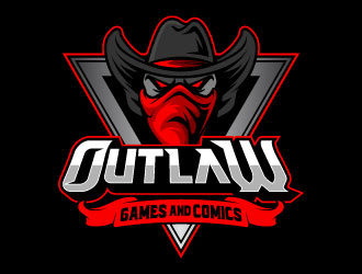 Outlaw Games and Comics logo design by daywalker