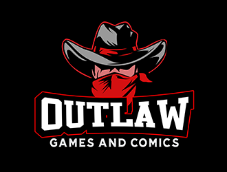 Outlaw Games and Comics logo design by 3Dlogos