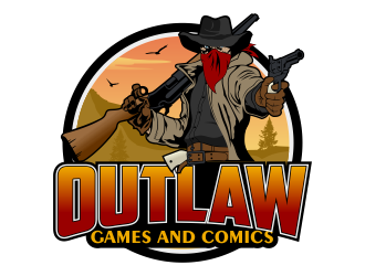 Outlaw Games and Comics logo design