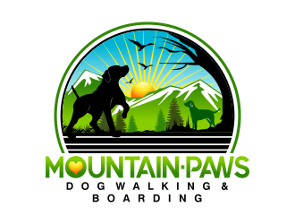 mountain paws logo design winner