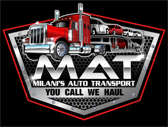 Milanis Auto transport service logo design winner