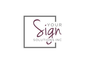 Your Sign Solutions Inc Logo Design