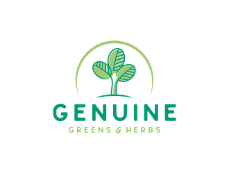 Genuine Greens ATX logo design