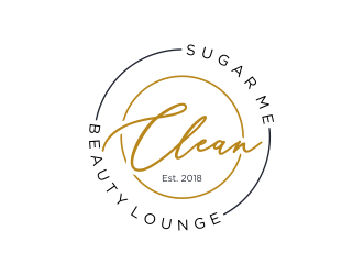 Sugar Me Clean Beauty Lounge logo design