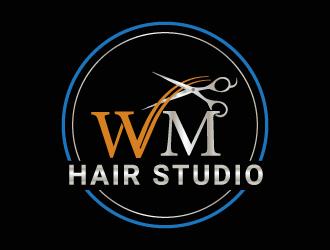 WM hair studio  logo design winner