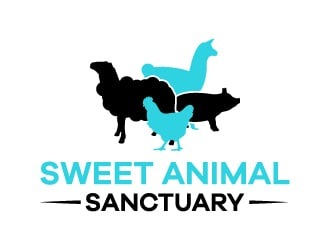 Sweet Animal Sanctuary (SAS) Logo Design