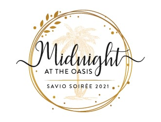 Midnight at the Oasis logo design