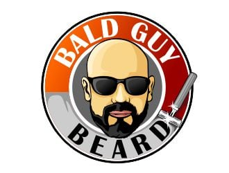 Bald Guy Beard logo design