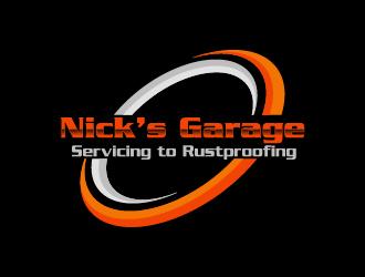 Nick's Garage  logo design by gateout