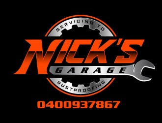 Nick's Garage  logo design by daywalker
