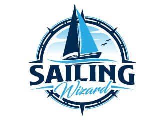 SAILING WIZARD logo design