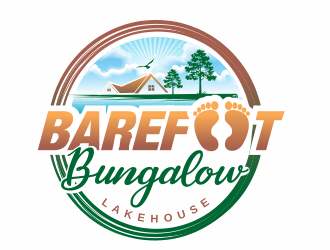 Barefoot Bungalow Lakehouse logo design