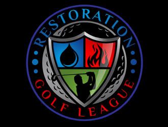 Restoration Golf League logo design