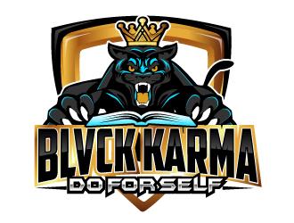 BLVCK KARMA  (Black karma)  logo design