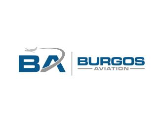 BURGOS AVIATION logo design