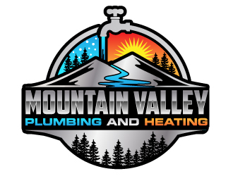 Mountain Valley Plumbing And Heating  logo design
