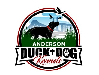Anderson Duck Dog Kennels logo design