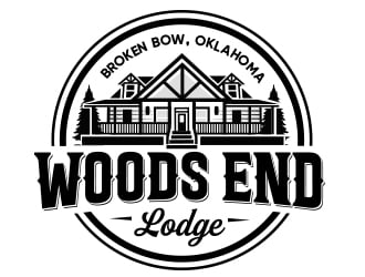 Woods End Lodge logo design
