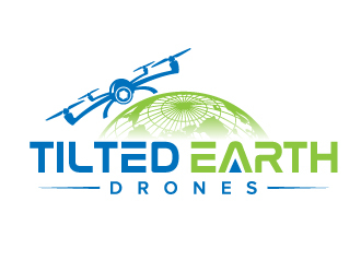 Tilted Earth Drones logo design