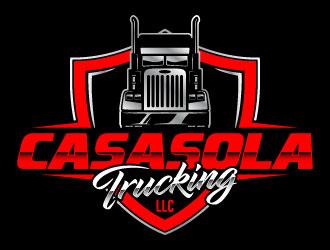 Casasola Trucking LLC logo design