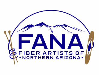 FANA - Fiber Artists of Northern Arizona logo design