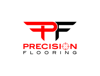 Precision Flooring logo design