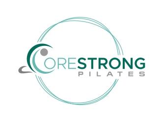CoreStrong Pilates logo design