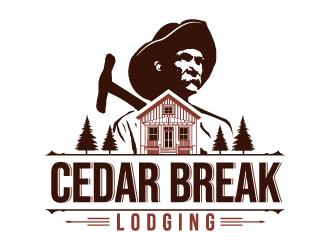 Cedar Break Lodging logo design