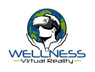 Wellness Virtual Reality  logo design