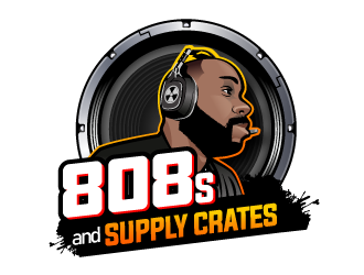 808s and Supply Crates logo design