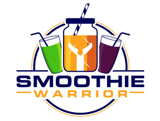 Smoothie Warrior  logo design