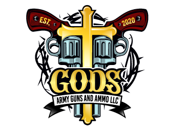 Gods Army Guns and Ammo LLC logo design