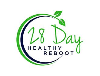 28 Day Healthy Reboot logo design
