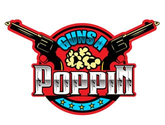 Guns A Poppin Logo Design