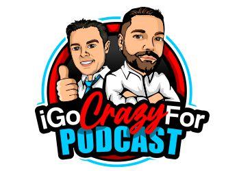 iGoCrazyFor Podcast logo design