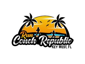 Run Conch Republic logo design
