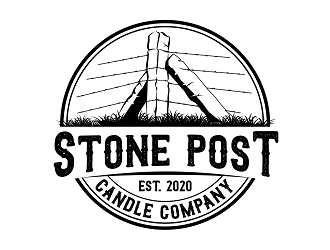 Stone Post Candle Company  logo design