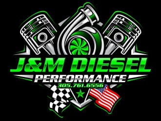 J&M Diesel Performance logo design