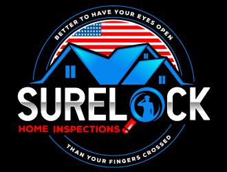 SureLock Home Inspections logo design
