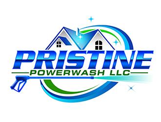 Pristine Powerwash LLC logo design