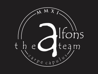 Cafe Alfons logo design