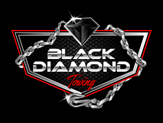Black Diamond Towing logo design