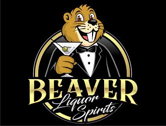 Beaver Liquor Spirits logo design