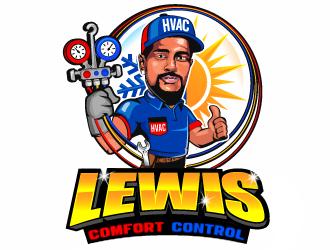 Lewis Comfort Control HVAC logo design winner