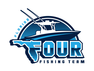 Florida Four Fishing Team logo design