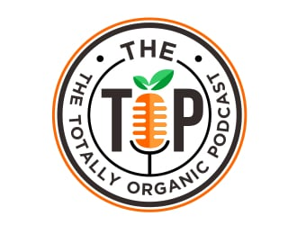 The TOP - The Totally Organic Podcast  logo design